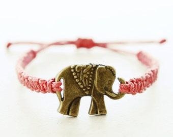 Tribal Elephant Bracelet - Hemp Bracelet - Hemp Jewelry