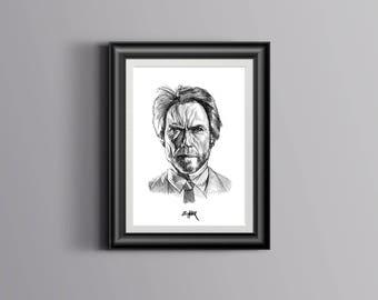 Clint Eastwood artwork