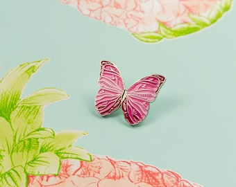 Pink Butterfly Pin / Soft Enamel Pin / Lapel Pin / Farfalla Cute Pin / Butterfly Gift / Animal Enamel Pin / Emaille Pin / Mariposa