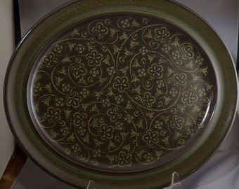 Vintage MCM Mid Century Franciscan Madeira Brown and Green Serving Platter