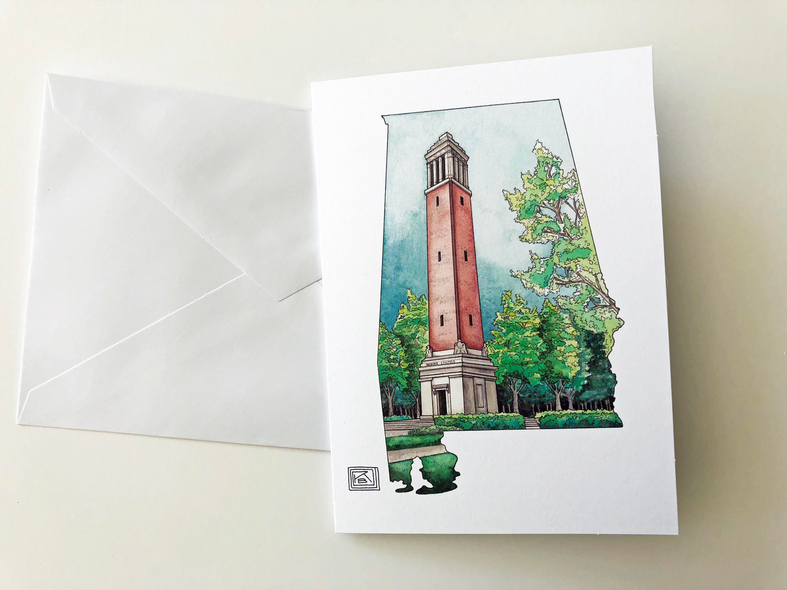 Denny chimes printed watercolor greeting cards set of 8 cards zoom kristyandbryce Images