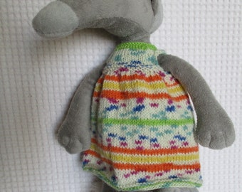 Multicolored dress for the Wolf Auzou plush Wolf who wanted...