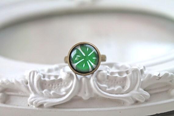 Shamrock ring St Patricks day green clover  geekery Ireland