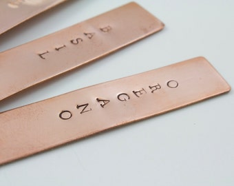 Pure Copper Herb Markers - Plant Stakes, Garden Stakes