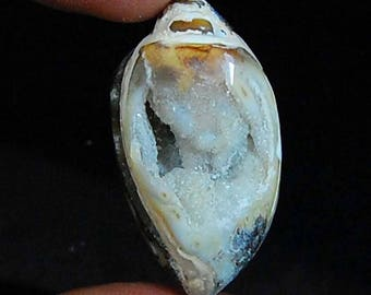 58.00 cts aaa 100% natural wonderful raw fine quality VINTAGE look FOSSILLIZED SHELL Druzy loose gemstone size36x18x14 mm