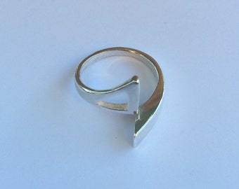 Asymmetrical Statement Triangle band, Cocktail Ring, Modern Contemporary  Ring