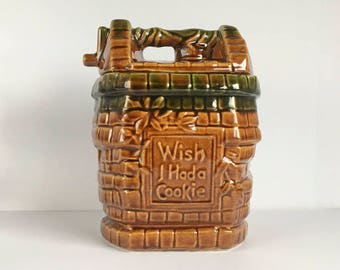 "McCoy Wishing Well cookie jar ""Wish I had a cookie"" Made in the USA"