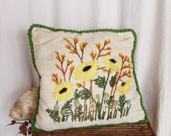 Vintage Small Floral Throw Pillow