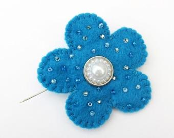 flower pin, boho flower brooch, felt flower brooch, boho jewelry, handmade brooch, flower jewelry, festival wear, hippy brooch