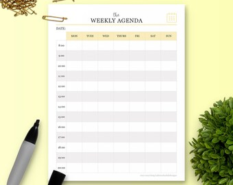The Weekly Agenda - Single Insert - The Ultimate Planner