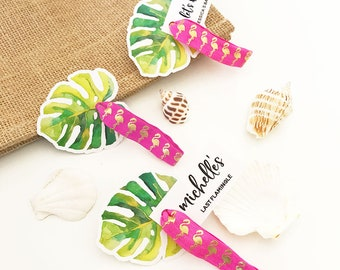 Tropical Hair Ties Flamingo Hair Ties Flamingo Bachelorette Hair Ties Bachelorette Party Favors Tropical Bachelorette Party (EB3256TPB)