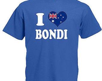 I love heart bondi australia children's kids t shirt