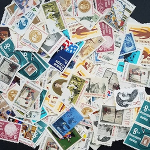 FIRE SALE! Hundred (100) 8 cent vintage unused postage stamps. Face value 8.00, selling for 85% including shipping