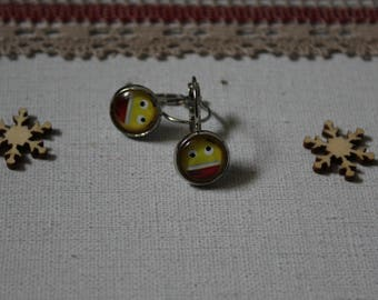 Earring Smiley emoticon smile, glass