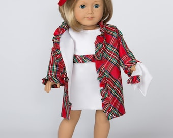 Ruffled Coat/Dress Ensemble for 18 Inch Doll