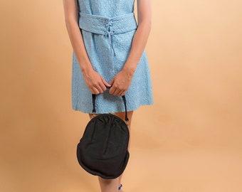 60s Pouch Purse / Vintage Wool Purse / Evening Purse / 60s Handbag
