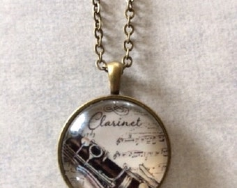 Clarinet - Clarinet Jewelry - Clarinet Necklace - Orchestra Gift - Orchestra Jewlery - Music Gift - Music Necklace - Music Jewelry - Music