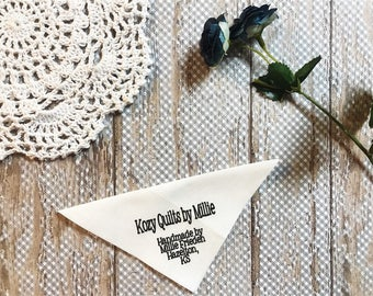 Plain & Simple Personalized Quilt Labels, FOR THE CORNER of your quilt