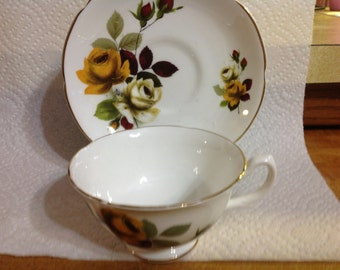 Vintage Royal Grafton Cup & Saucer Fine Bone China Made In England