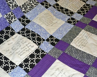 Wishes and Wisdom Memory Quilt
