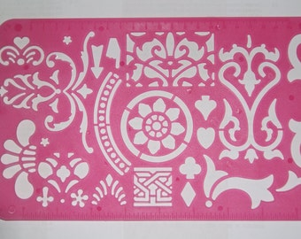 Type 02 Flowery Flower Exotic Decoration theme plastic drawing stencil template