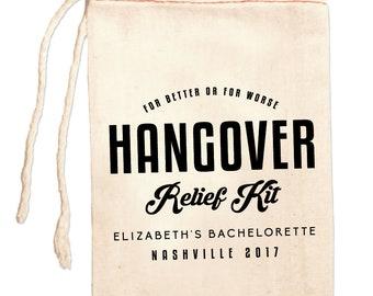 Wedding Recovery Kit, Hangover Survival Kit, Wedding Survival Kit Bag, Personalized Hangover Bag, Custom Hangover Kit, Bachelorette Party