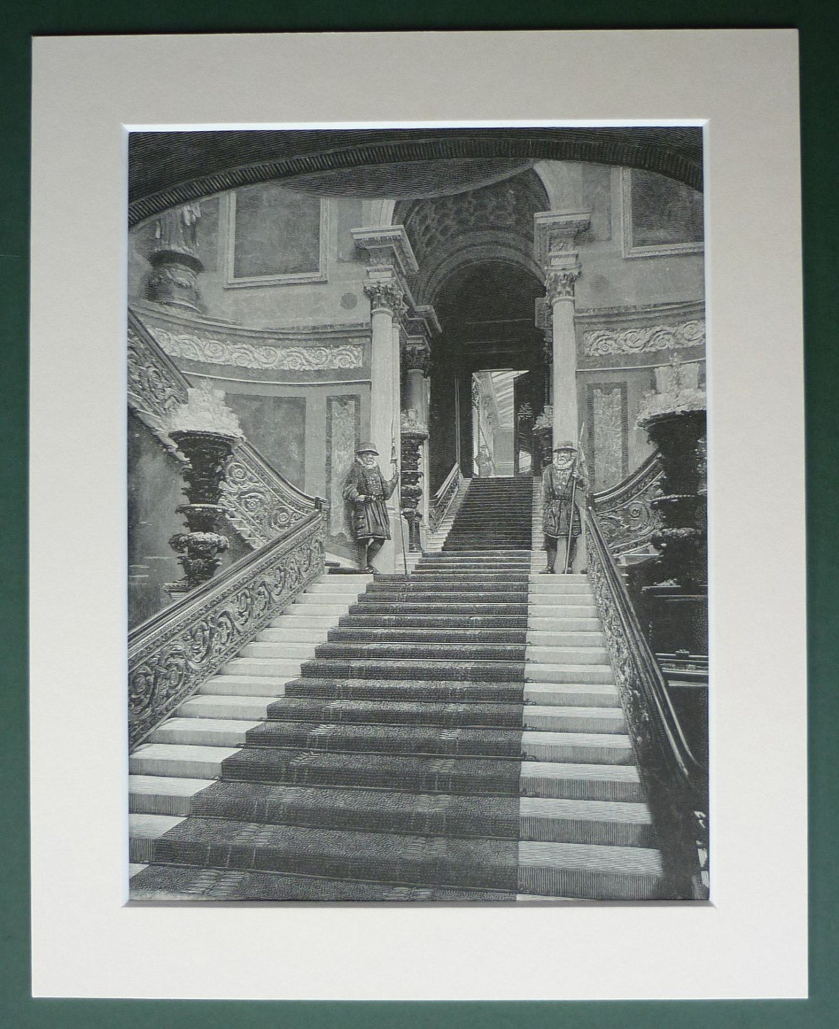 Antique victorian print of buckingham palace staircase british zoom jeuxipadfo Gallery