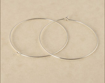 "Hoop Earrings - 1-1/4"" (35mm) Silver Hoop Earrings, Small Hoop Earrings, Sterling Silver Hoop Earrings, Thin Hoop Earrings, Silver Hoops"