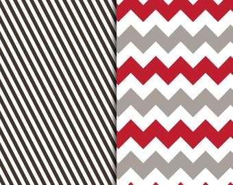 Brown and Red Pattern Sheets