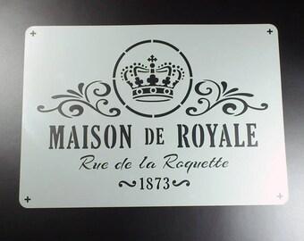 Template Maison de Royale shabby Krone-BS14