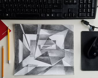 Abstract 9x12 Value Pencil Drawing