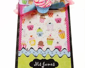 Decorative Clipboard Personalized Cupcake Mania