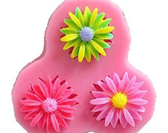 Daisy Trio Silicone Mould