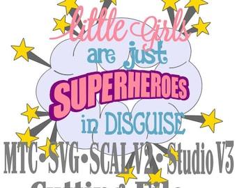 SVG Cut File Super Hero Girl Saying Quote Design 01 Silhouette CricutMTC SCAL  Cutting Files