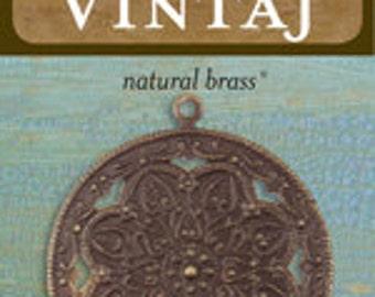 Vintaj 40x35.5mm Viola Scrollwork (1 pc/pkg)