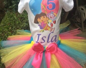 Dora the Explorer Birthday Tutu Outfit