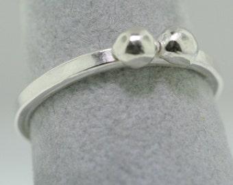 Silver Balls Trinket Ring- Stackable