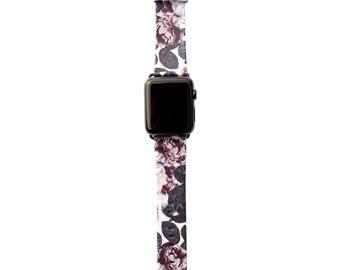 Shadow Blossom Vegan Leather Apple Watch Band 38mm