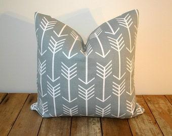 Arrows Pillow Cover Grey / 20x20 / Premier Prints Arrow Cool Grey
