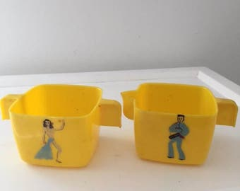 Vintage Federal Tool Corp. Plastic Cream Sugar with Dancers