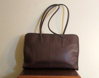 Dads Grads Sale Coach Legal Tote In Mahogany Leather Style No 7307 - VGC