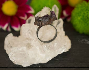 Crystal ring. Crystal jewelry. Wicca ring. Wicca jewelry. Pagan ring. Pagan jewelry. Witch ring. Witch jewelry. Stone ring. Stone jewelry