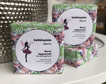 """Blackberry Pear Soap, Pearberry Soap, Boysenberry Soap, Handcrafted Soap, Shea Butter Soap, """"Berry Appearant"""""""