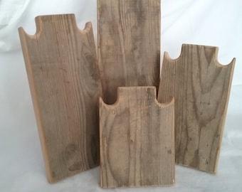 Ensemble de collier 4 Stands collier en bois rustique affichage patiné prendre bois récupéré vers le bas de conception pour les salons d'artisanat