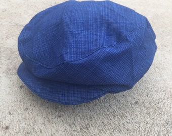 Baby and boys blue vintage rockabilly flat cap newsboy hat