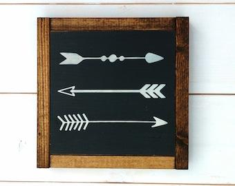 Arrows, Wood Sign, Modern Farmhouse Style, Rustic Home Decor