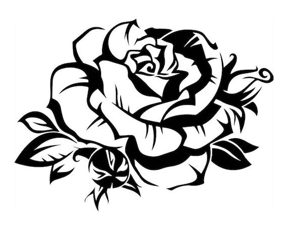 Blanco Y Negro Rosa Flor Floral Hermoso Amor Belleza