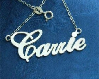 Sterling 925 Silver Carrie Name Necklace