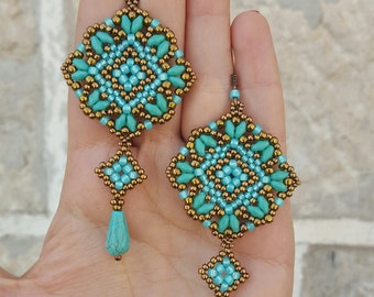 Earrings Mosaic- beading pattern