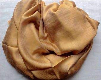 Gold Shimmer Silk/Staple Wrap/Stole